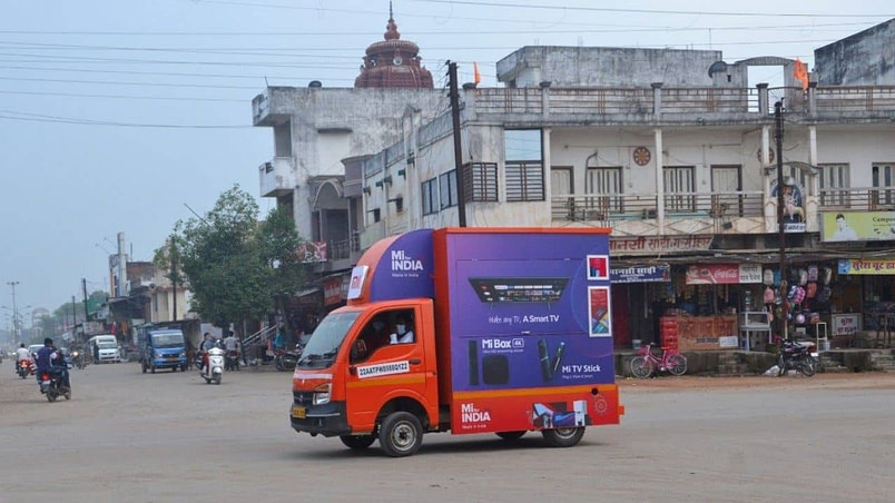 "Xiaomi launches ""Mi Store on Wheels"" for rural customers in India."
